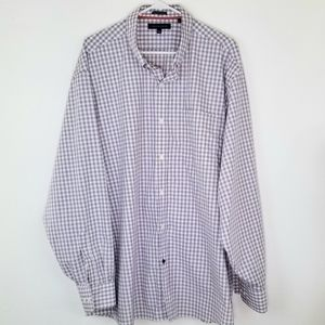 TOMMY HILFIGER  White/Red/Blue Shirt, 18.5 36-37